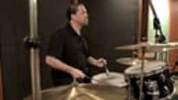 eron woods playing drums